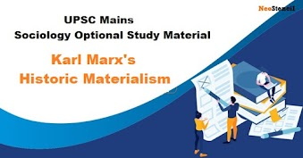 Karl Marx's Theory Historical Materialism - Sociology Optional Study Material