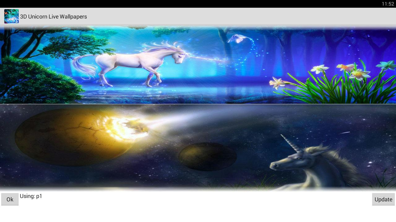 3d unicorn live wallpapers android apps on google play