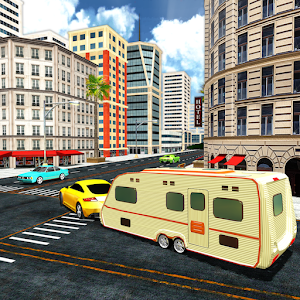 Camper Van Truck Parking: RV Car Trailer Simulator