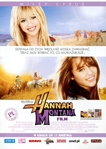 Przód ulotki filmu 'Hannah Montana. Film'