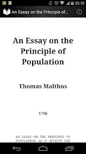 On the Principle of Population Ekran Görüntüsü