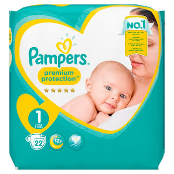 Pampers Premium Protection Windeln New Baby Diaper - 22pk, 2-5kg, New Born