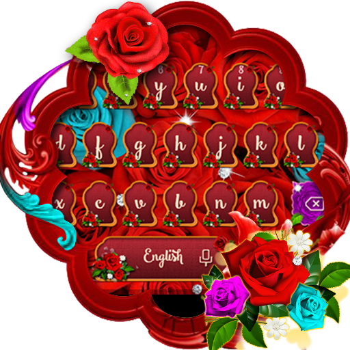 Red Roses Keyboard Theme