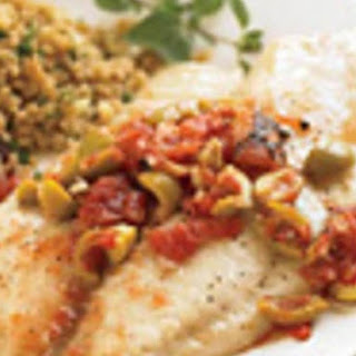 Roasted Tilapia With Fire-roasted Tomatoes & Olives.