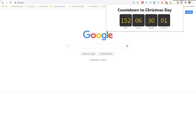 Countdown to Christmas Day