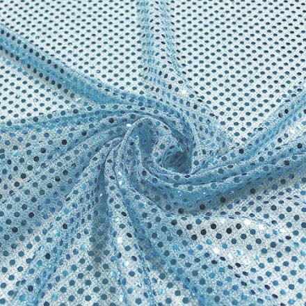 Glitterpaljett - ljusblå