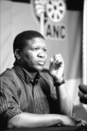 Fikile Mbalula at the presser regarding Madiba's participation in the weekends election rally. Pic Martin Rhodes 2009/02/23 © Business day