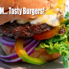 Mmm Tasty Burger by Sean Leland - Food & Drink Plated Food ( burger, tasty, burger time, meat, burgers, hamburger,  )