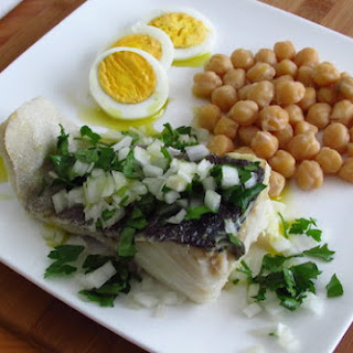 Cooked Chickpeas With Cod.