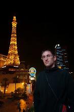 Photo: Daniele in front of the Paris Las Vegas Hotel and Casino