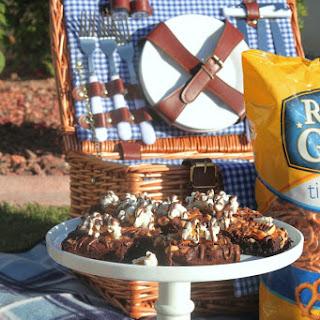 Rold Gold Pretzel Peanut Popcorn Brownies.