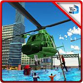 Helicopter Flood Rescue Sim