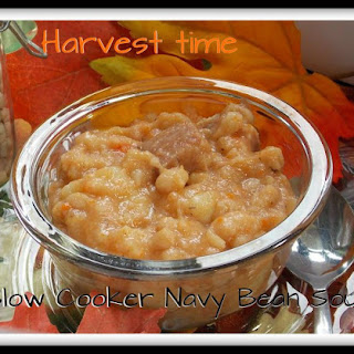 Harvest Time Slow Cooker Navy Bean Soup.