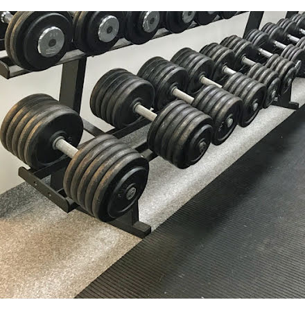 Fasta skivhantlar gjutjärn 45-50-55 kg (3 par)