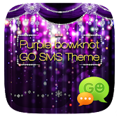GO SMS PURPLE BOWKNOT THEME