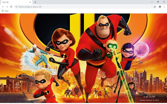 Incredibles 2  New Tab Theme
