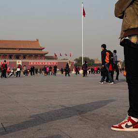 Tiananmen by Hadrien Léger - Travel Locations Landmarks ( landmark, tiananmen square beijing landmark china west, travel )