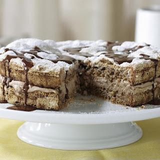 Chocolate Hazelnut Dacquoise Cake.