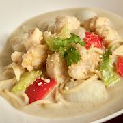 Thai Green Curry Chicken Spaghetti