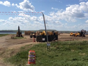 Dakota Access Pipeline Construction Site in ND. Northeast of Cannon Ball, ND across the Missouri River.