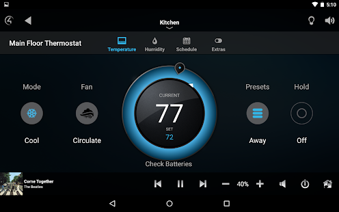 Control4® for Android- screenshot thumbnail