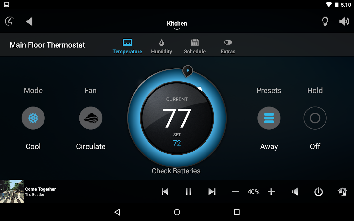 Control4® for Android- screenshot