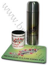 Photo: Фирменная сувенирка NISSAN - термос, коврик для мыши, чашка