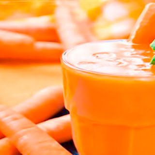 Carrot, Apple, and Banana Smoothie.