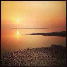 Photo: Zonsondergang op de Wadden.
