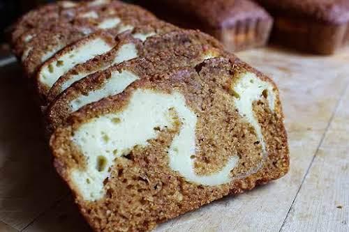 "Cream Cheese Stuffed Sweet Potato Bread""Move over banana bread, this sweet potato..."