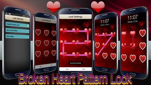 Broken Heart Pattern Lock