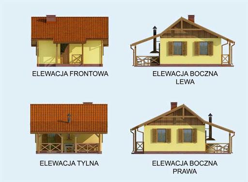 Bazylea dom letniskowy szkielet drewniany - Elewacje