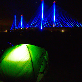 Camping at Indian River inlet  by Bryan Gruber - Buildings & Architecture Bridges & Suspended Structures ( camping, delaware, beach,  )