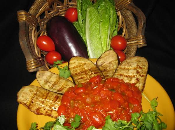 Fire Grilled Eggplant With Sweet Tomato Gravy