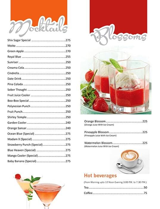 Shiv Sagar menu 15