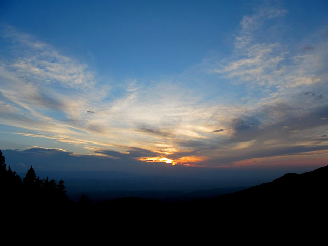Sunset from Bull Creek Pass
