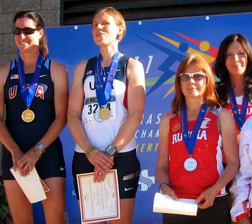 WorldMastersAthleticChampionship podium, Silver medal