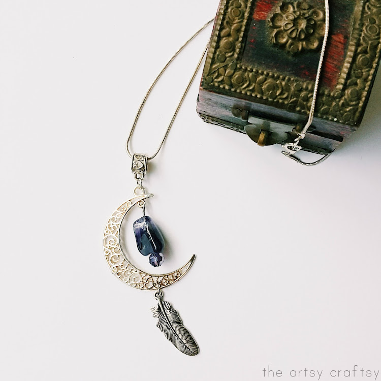 Silver Moon River - Short Necklace by The Artsy Craftsy
