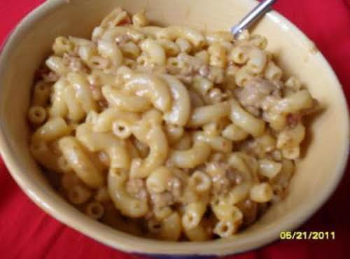 "Crock Pot Cheeseburger Mac ""There was not one drop of the macaroni left...."