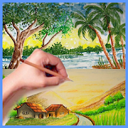 Drawing Scenery Natural Landscape