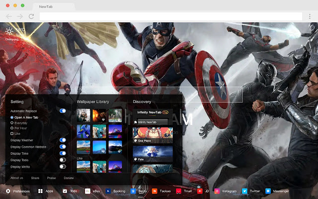 Avengers Pop Movies HD New Tabs Themes