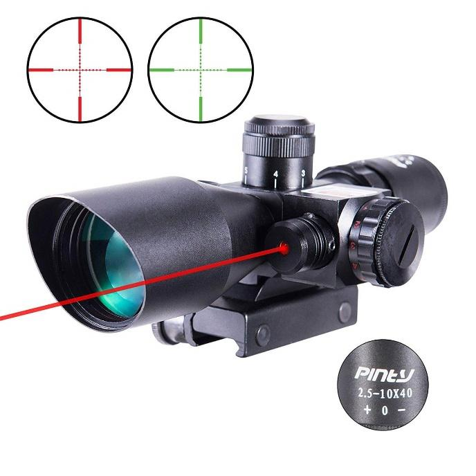 Pinty Red Green Illuminated Mil-dot Rifle Scope
