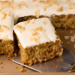 Tropical Carrot Cake Recipe with Coconut Cream Cheese Frosting Recipe