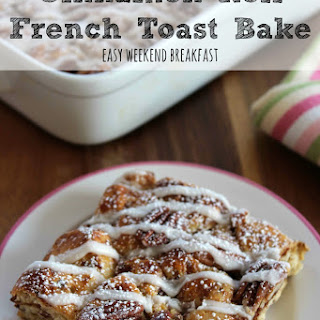 Cinnamon Roll French Toast Bake | Easy Weekend Breakfast!