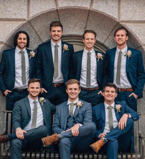 Semi-formal wedding attire for men