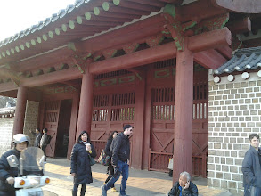 Photo: Outside Jongmyo Shrine! This is where the memorial service of the deceased kings and queens of the Korean Joseon Dynasty are usually held.