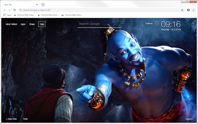 Aladdin 2019 HD Wallpapers New Tab Themes
