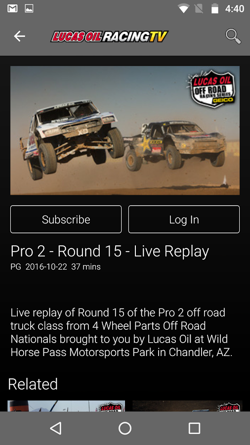 Lucas Oil Racing TV- screenshot