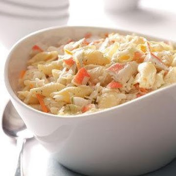 Family Favorite Crab Pasta Salad (quick & Easy) Recipe