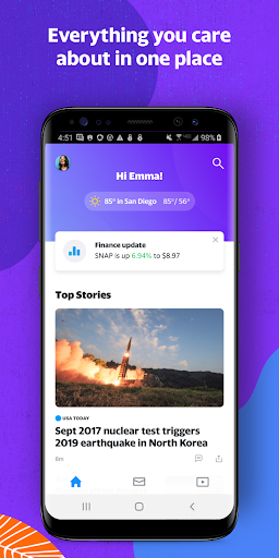 Yahoo - News, Mail, Sports 1.10.9 screenshots 1